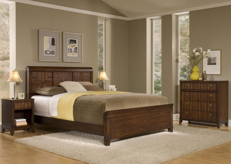 Paris Bedroom set - Mahogany - Home Styles