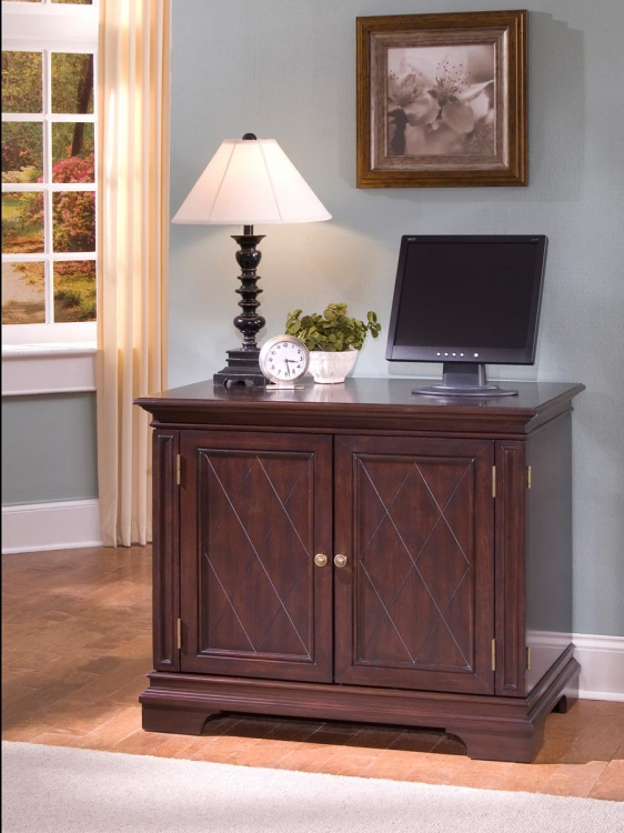 Windsor Compact Computer Desk - Windsor Cherry - Home Styles