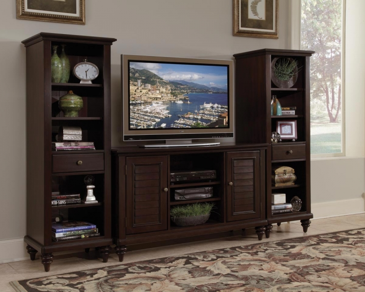 Bermuda 3 Pc Entertainment Center - Espresso - Home Styles