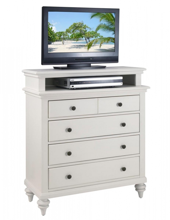 Bermuda TV Media Chest - Brushed White