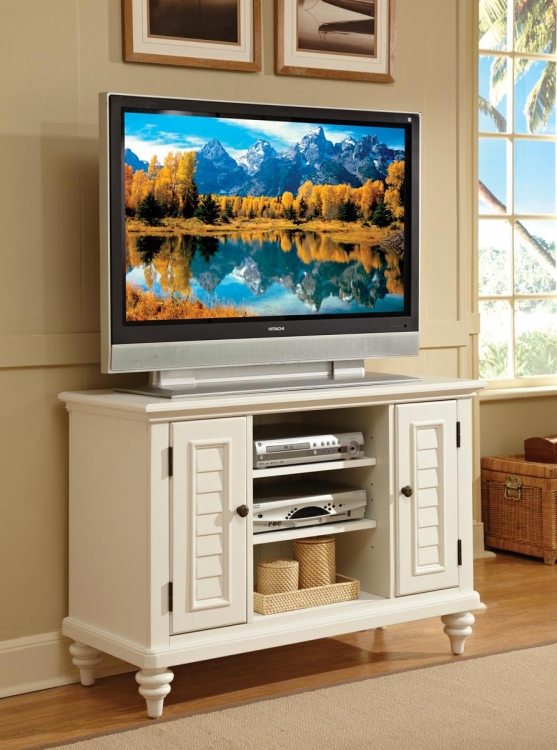 Bermuda TV Stand - Brushed White - Home Styles