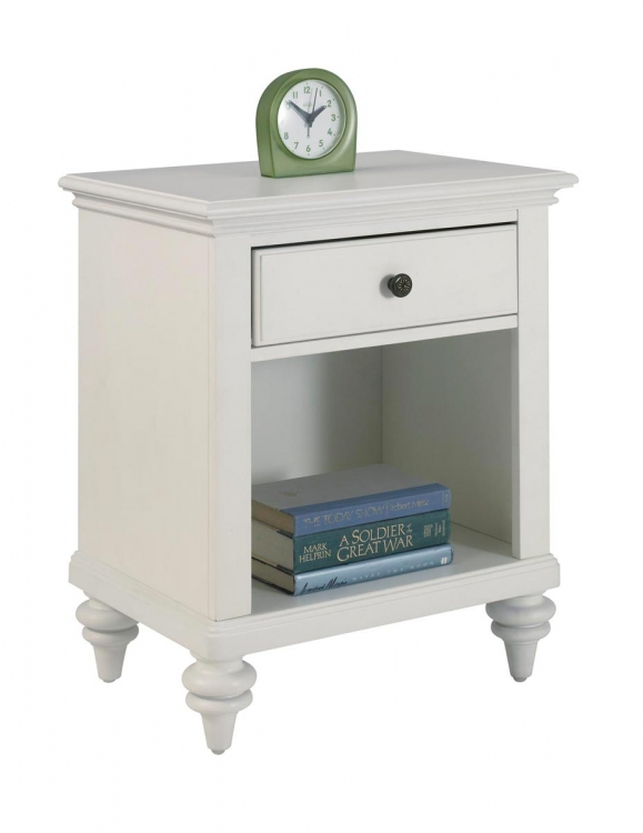 Bermuda Night Stand - Brushed White - Home Styles