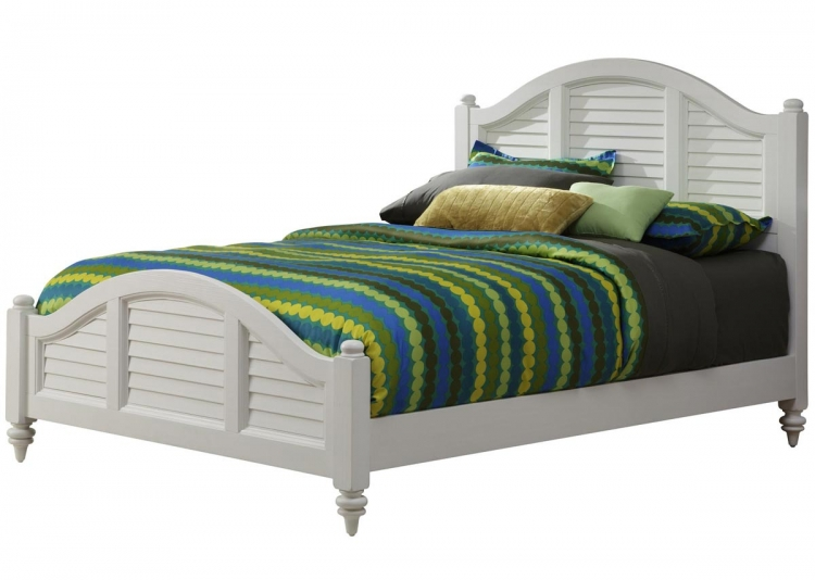 Bermuda Queen Bed - Brushed White - Home Styles