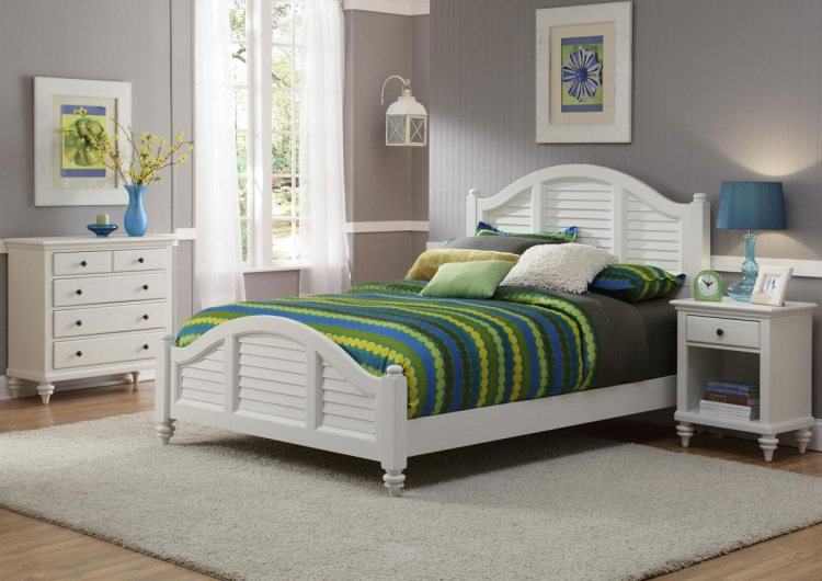 Bermuda Bedroom Set - Brushed White