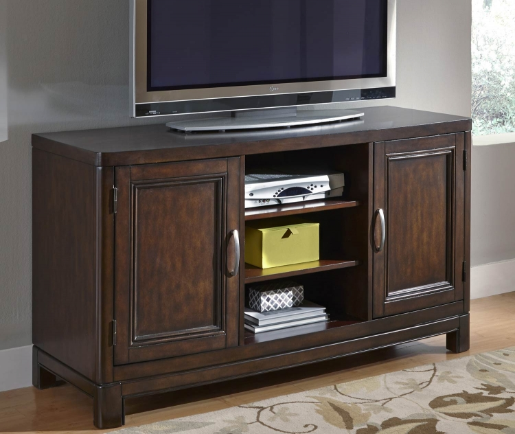 Crescent Hill 56 Inch TV Stand - Two-tone tortoise shell