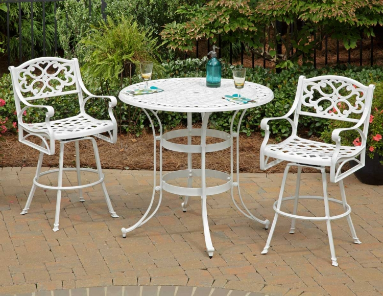 Biscayne Bistro Table Set - White