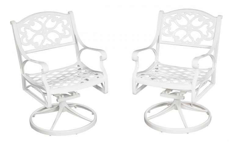Biscayne Swivel Chair - White - Home Styles