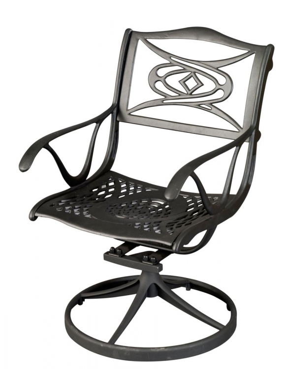 Malibu Swivel Chair - Black