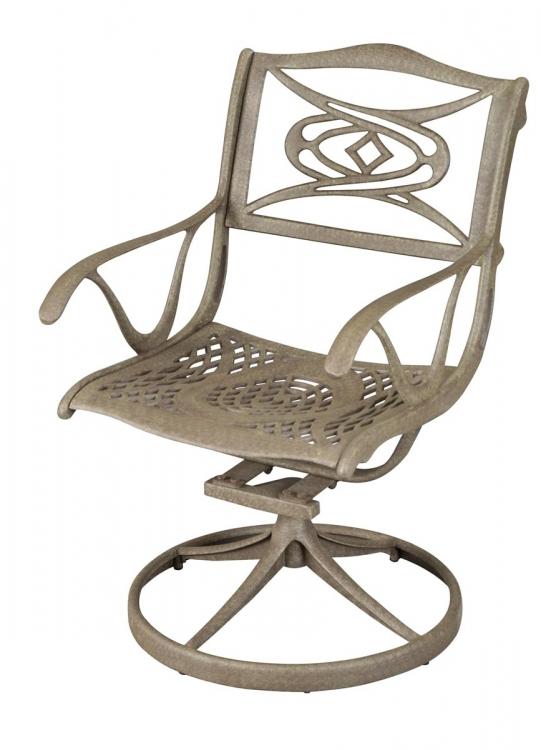 Malibu Swivel Chair - Taupe
