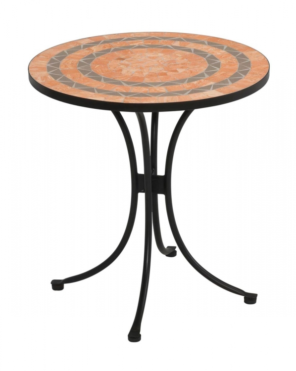 Tile Top Bistro Table - Terra Cotta