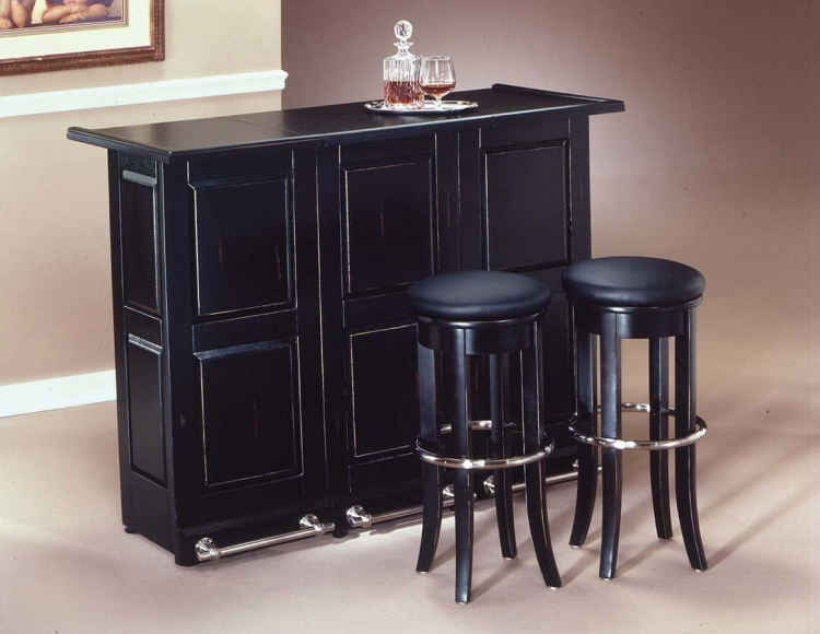 Swing Open Folding Bar - Black - Home Styles