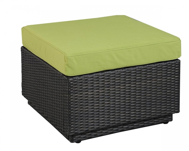 Riviera Ottoman - Green Apple - Home Styles