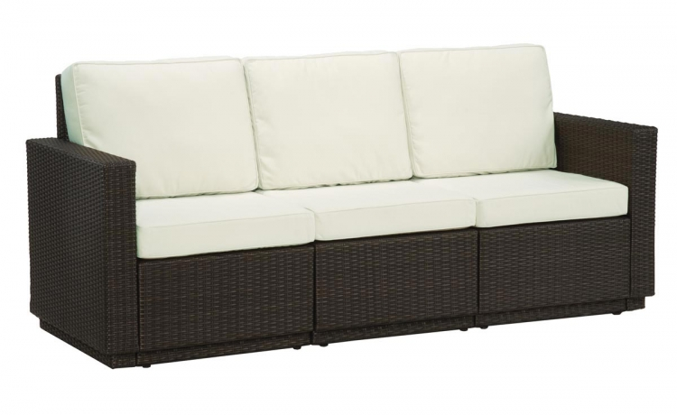 Riviera Three Seat Sofa - Stone - Home Styles