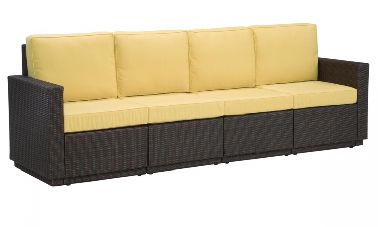 Riviera Four Seat Sofa - Harvest - Home Styles