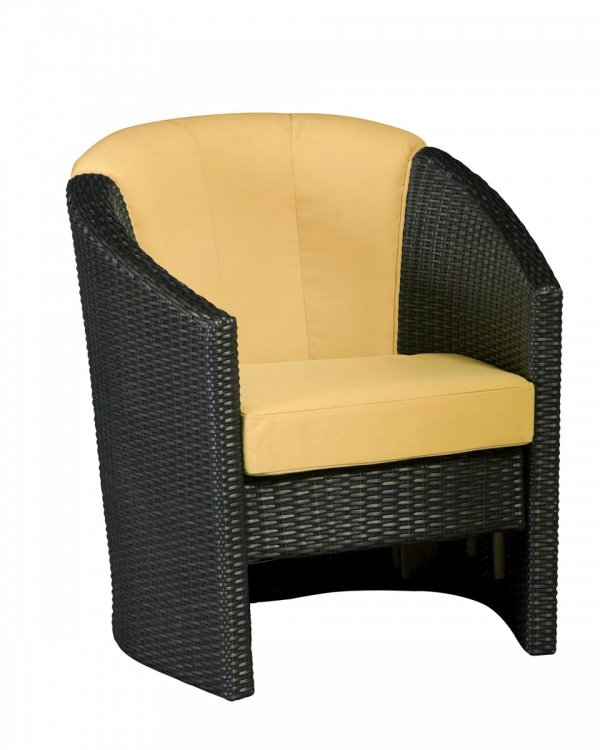 Riviera Barrel Accent Chair - Harvest - Home Styles