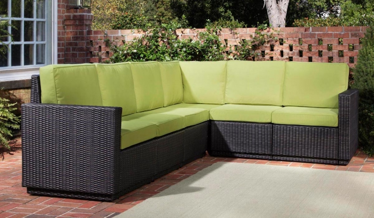 Riviera Six Seat Sectional - Green Apple - Home Styles