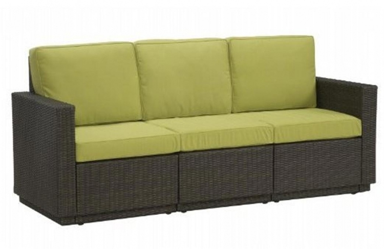 Riviera Three Seat Sofa - Green Apple - Home Styles