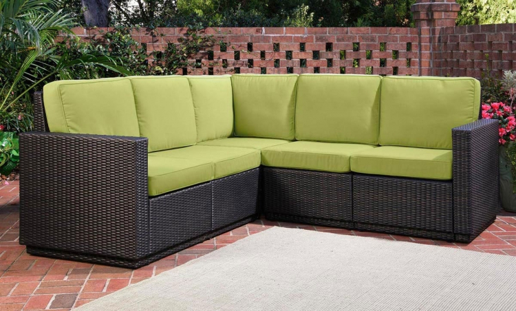 Riviera Five Seat Sectional - Green Apple - Home Styles