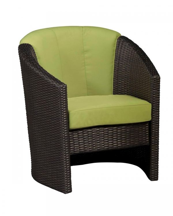 Riviera Barrel Accent Chair - Green Apple - Home Styles