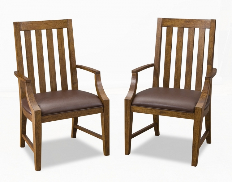 Arts and Crafts Game Chair Pair - Oak - Home Styles