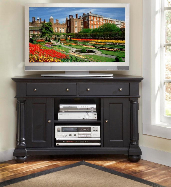 St. Croix Corner TV Stand - Black - Home Styles