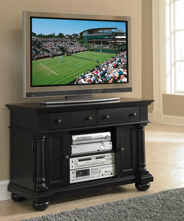 St. Croix TV Stand - Black - Home Styles