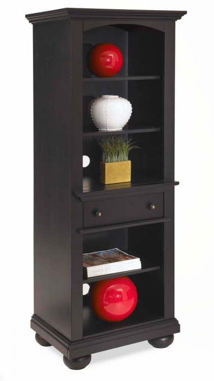 St. Croix Pier/Audio Cabinet - Black - Home Styles