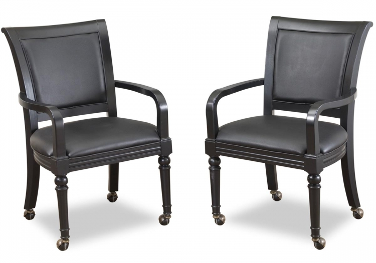St. Croix Game Chair Pair - Black - Home Styles