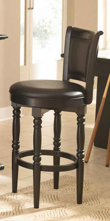 St. Croix Swivel Bar Stool - Black - Home Styles