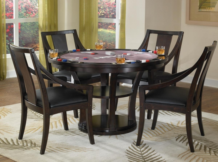 Rio Vista Game Table Set - Espresso - Home Styles