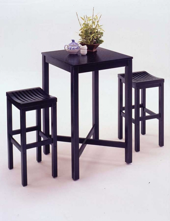 Bar Set - Black - Home Styles