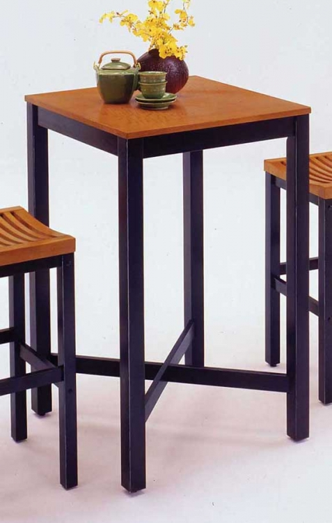 Bar Table - Black and Oak - Home Styles