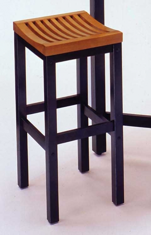 29in Bar Stool - Black and Oak - Home Styles