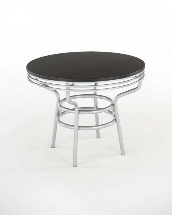 Soda Shoppe Round Dinette Table - Black