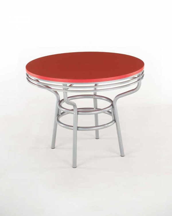 Soda Shoppe Round Dinette Table - Red