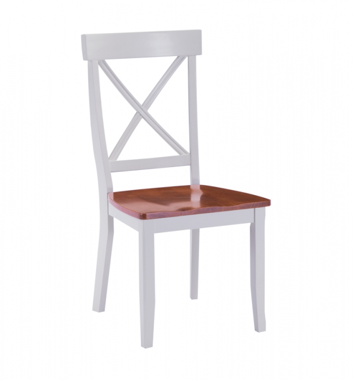 Dining Chair - White and Cottage Oak