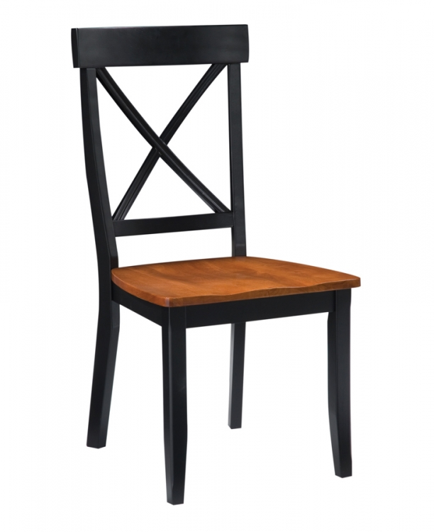 Dining Chair - Black and Cottage Oak