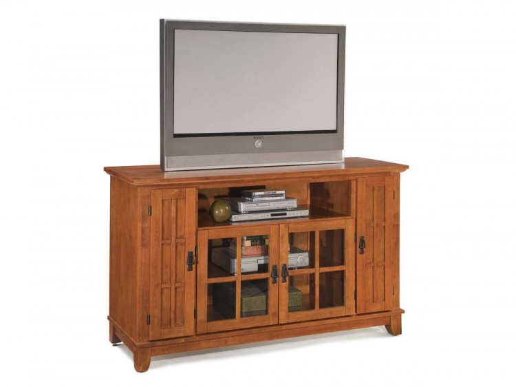 Arts and Crafts Entertainment Credenza - Home Styles
