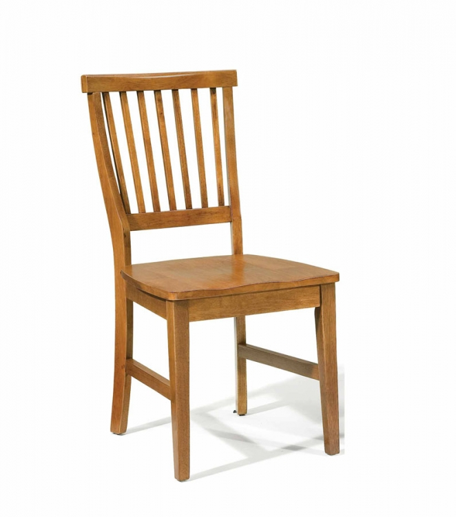 Arts and Crafts Side Chair - Cottage Oak - Home Styles