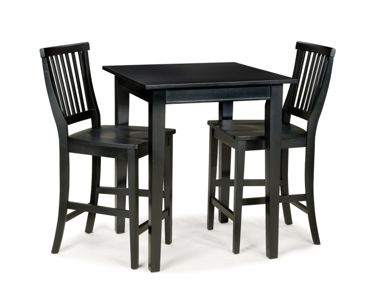 Arts and Crafts Bistro Set - Ebony - Home Styles