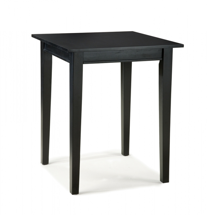 Arts and Crafts Bistro Table - Ebony - Home Styles