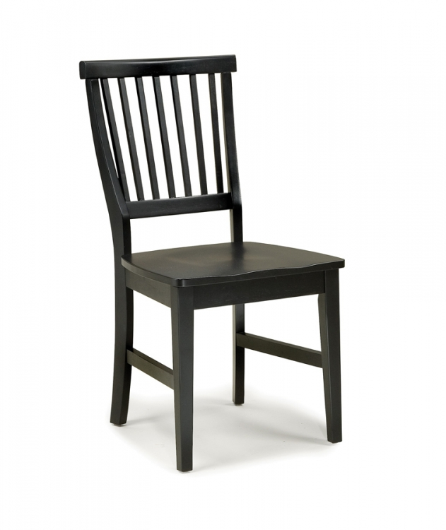 Arts and Crafts Side Chair - Ebony - Home Styles