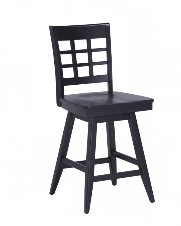 Arts and Crafts 24 Inch Bistro Stool - Ebony