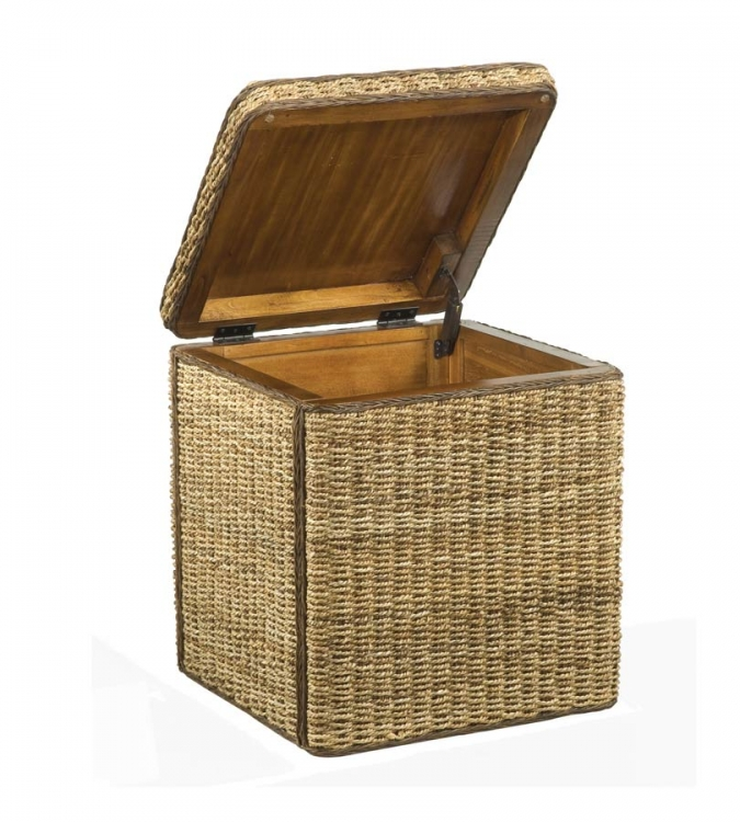 Cabana Small Storage Chest - Honey Oak - Home Styles