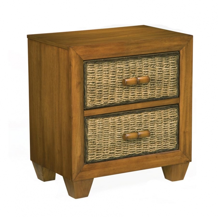 Cabana Night Stand - Honey Oak