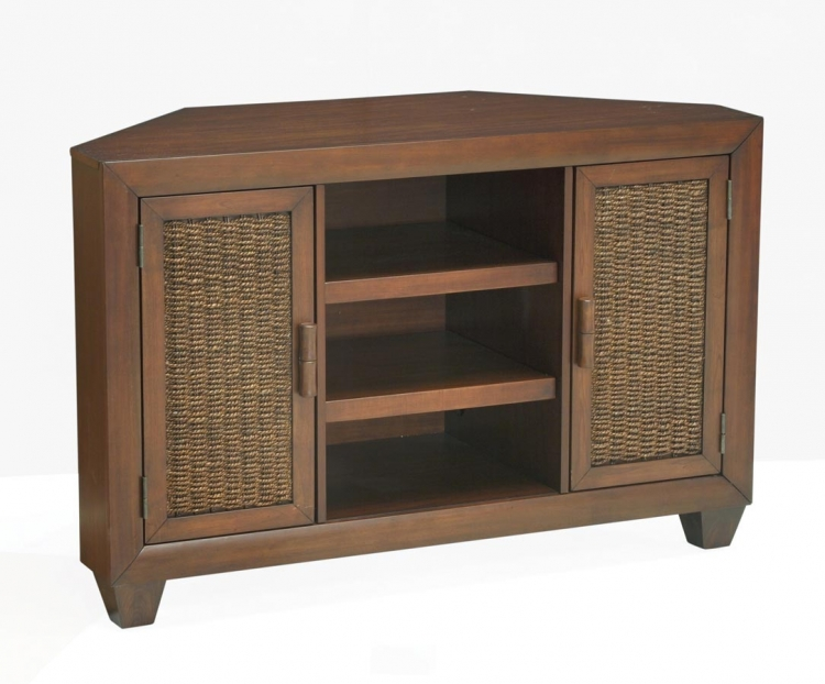 Cabana Corner Entertainment Stand - Coca - Home Styles