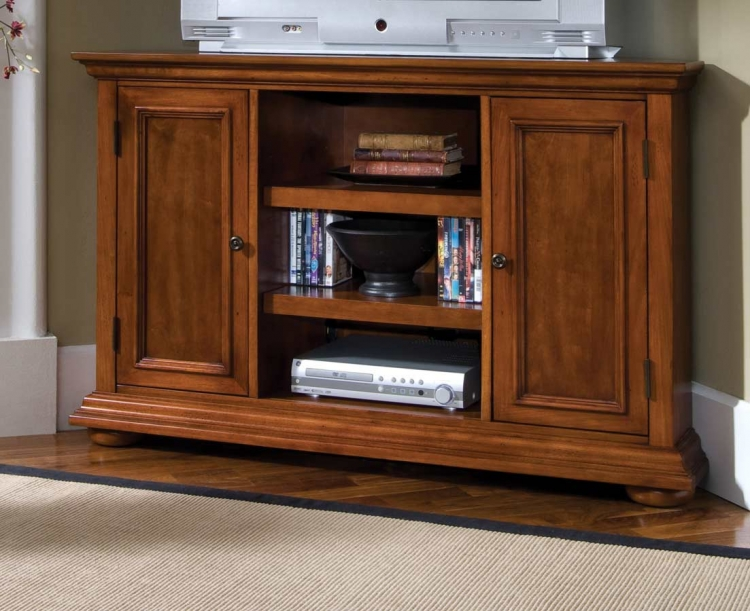 Homestead Corner Entertainment Stand - Home Styles