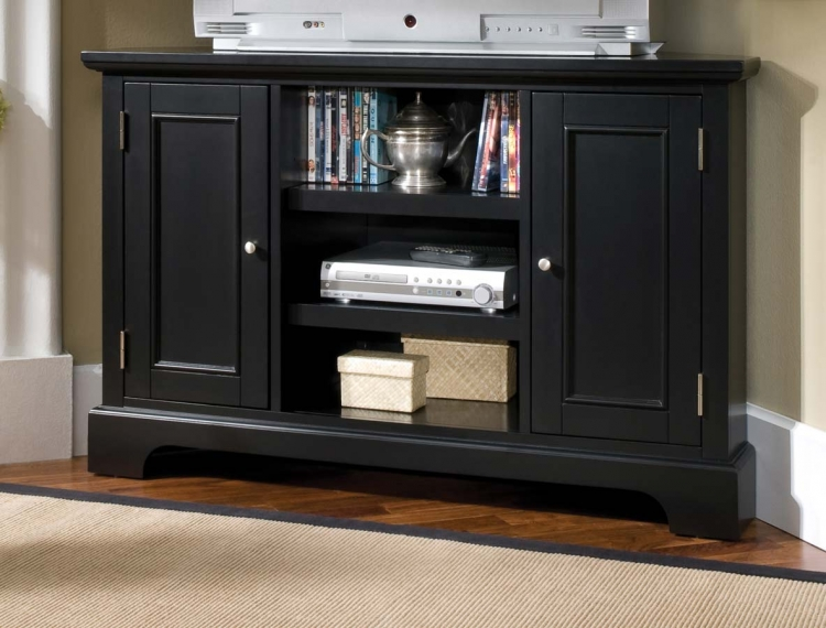 Bedford Black Corner Entertainment TV Stand - Home Styles