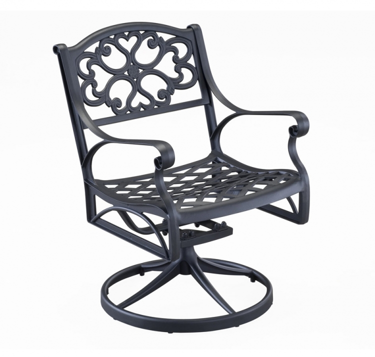 Swivel Arm Chair - Black - Home Styles