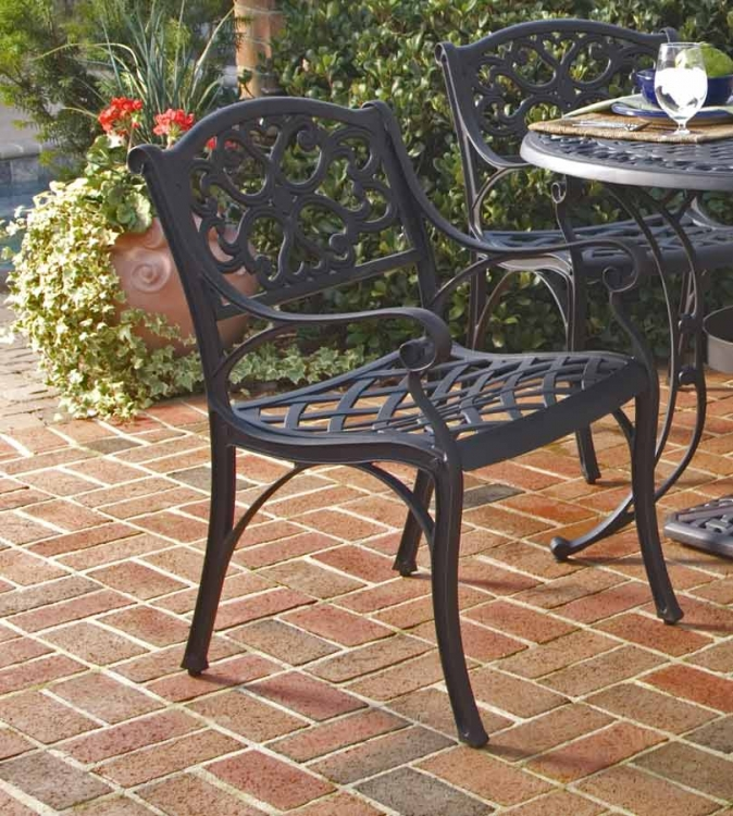 Arm Chair - Black - Home Styles